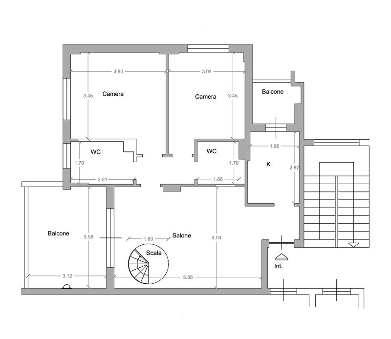 Progettazione scala interna zona soggiorno - Design scala soggiorno