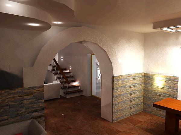Progettazione interni soggiorno